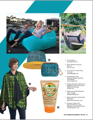 Gifts & Decorative Accessories magazine Top Outdoor Picks, Come Rain or Shine: RainCaper