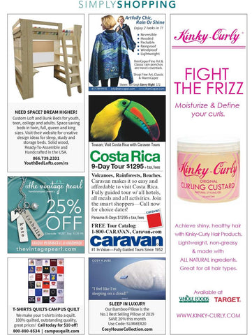 RainCaper in October issue of Real Simple magazine with Starry Night rain cape