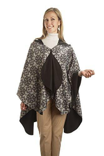 RainCaper Reversible Rain Poncho - Black/Print - ONLY 1 Left!