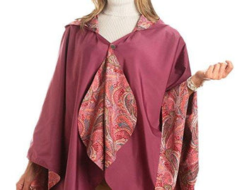 RainCaper Reversible Rain Poncho - Grape/Paisley