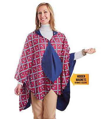 RainCaper Reversible Rain Poncho - Navy/Anchors