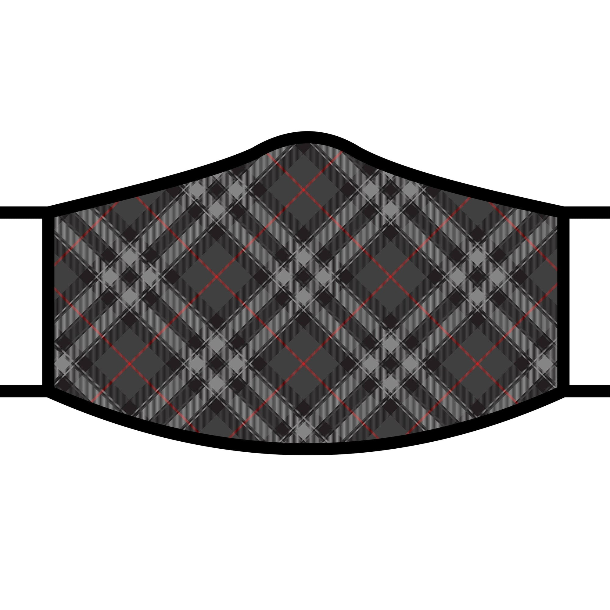 Men wearing a RainCaper Grey Plaid Reusable Fabric Face Mask