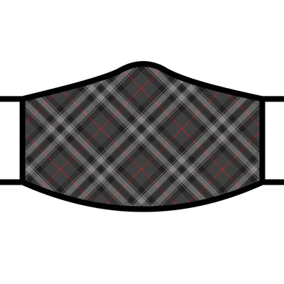 RainCaper Grey Plaid Reusable Fabric Face Mask