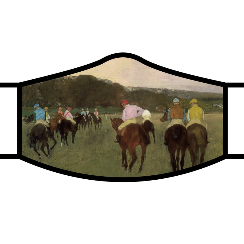 RainCaper Degas Racehorses at Longchamp Reusable Fabric Face Mask