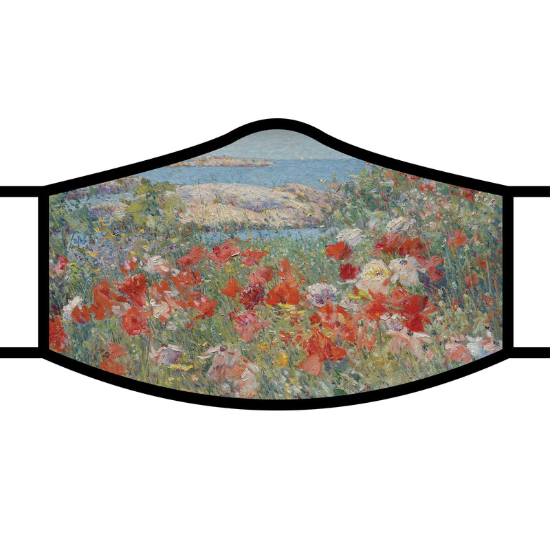 RainCaper Hassam Celia's Garden/Isles of Shoals Reusable Fabric Face Mask