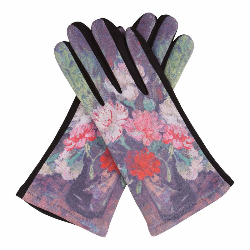 Fine Art van Gogh Carnations Texting Gloves