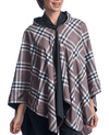 RainCaper Black & Coco Plaid Reversible Travel Cape - Top Seller!