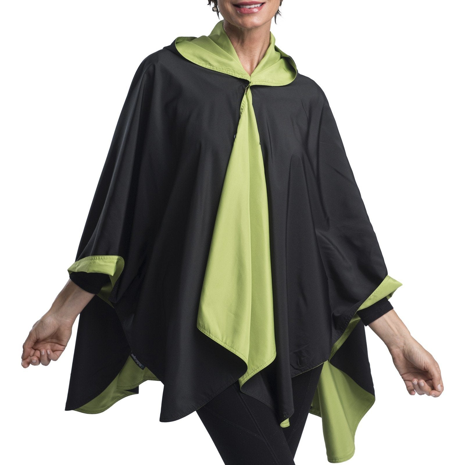 RainCaper Black & Greenery Travel Cape