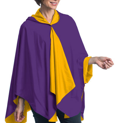 SpiritCaper Purple & Gold Wind & Rainproof Cheer Cape