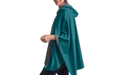 RainCaper Jade with Kaleidoscope Print Travel Cape - Last One!