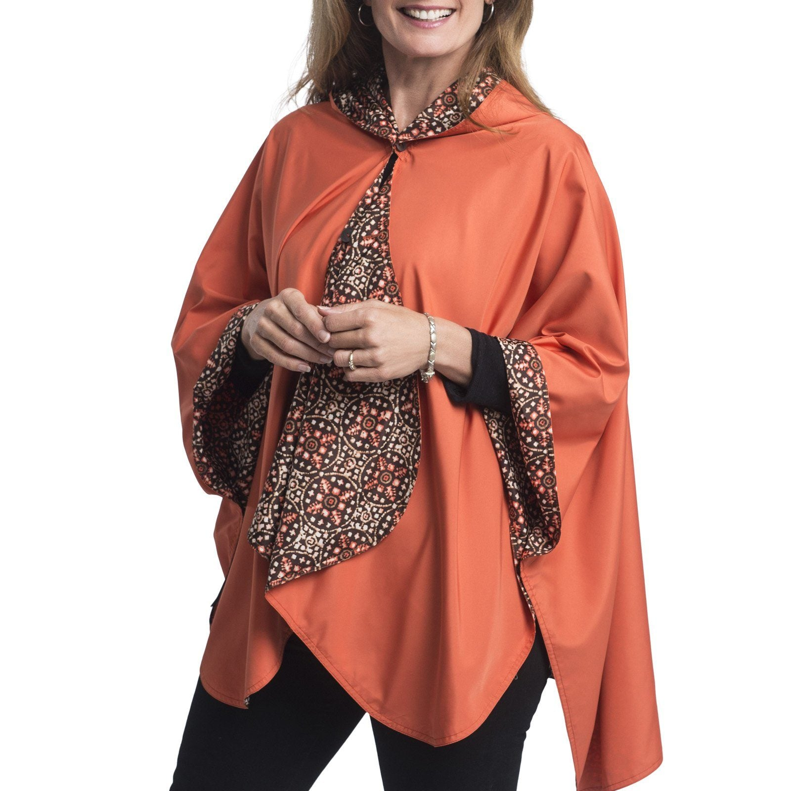 RainCaper Spice With Coco Medallion Print Travel Cape