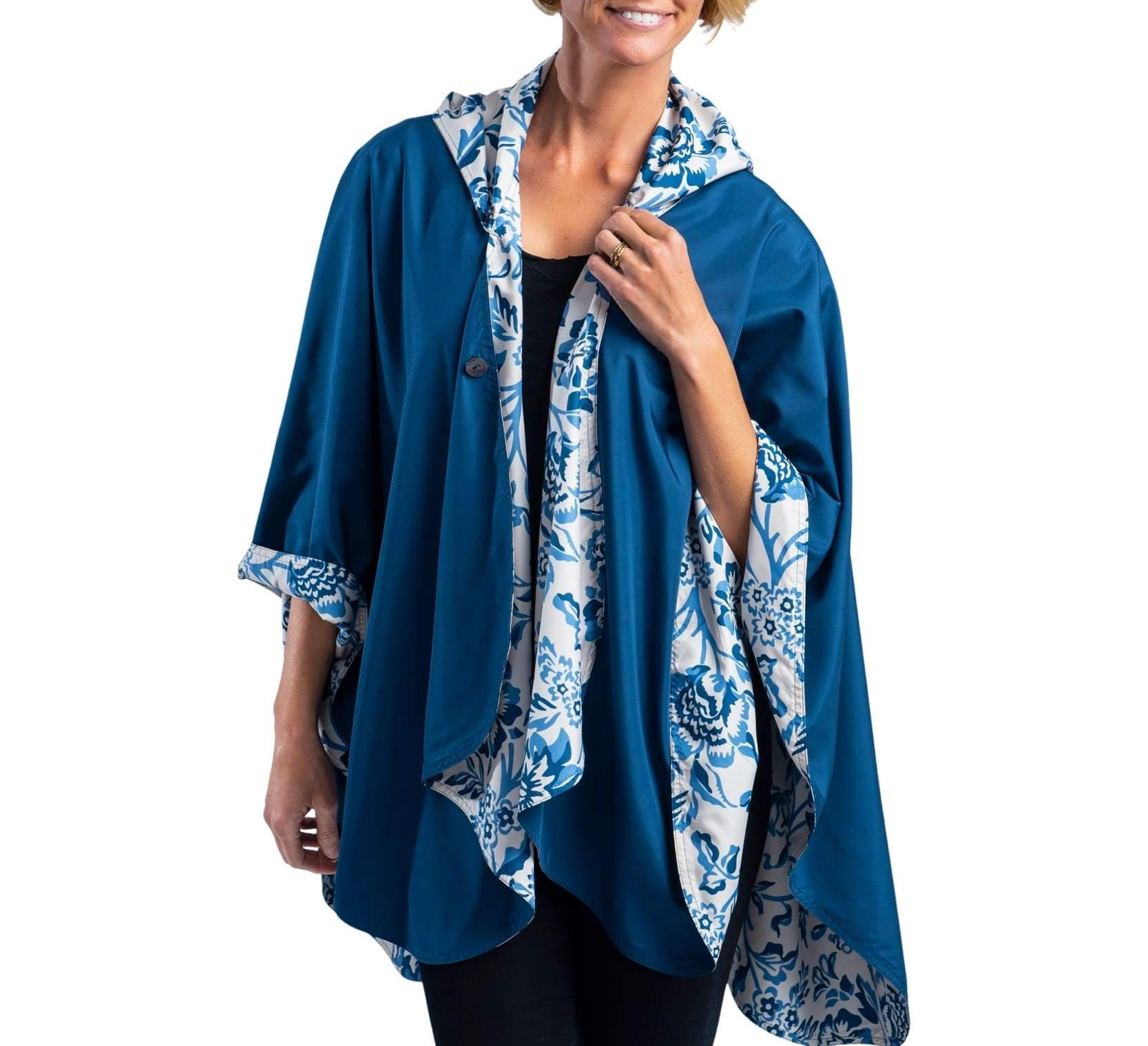 RainCaper Navy/Blue Garfield Print Wind & Rainproof Travel Cape