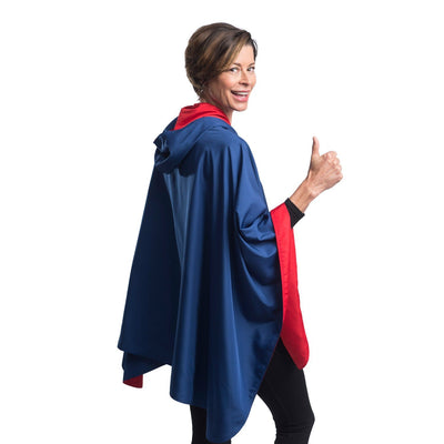 SpiritCaper Navy & Red Wind & Rainproof Sport Cape