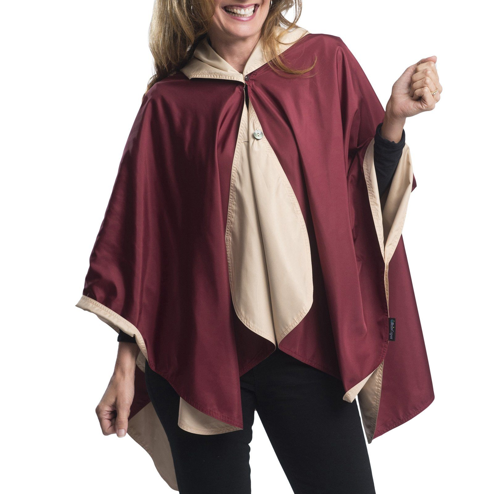 SpiritCaper Garnet & Gold Wind & Rainproof Cape