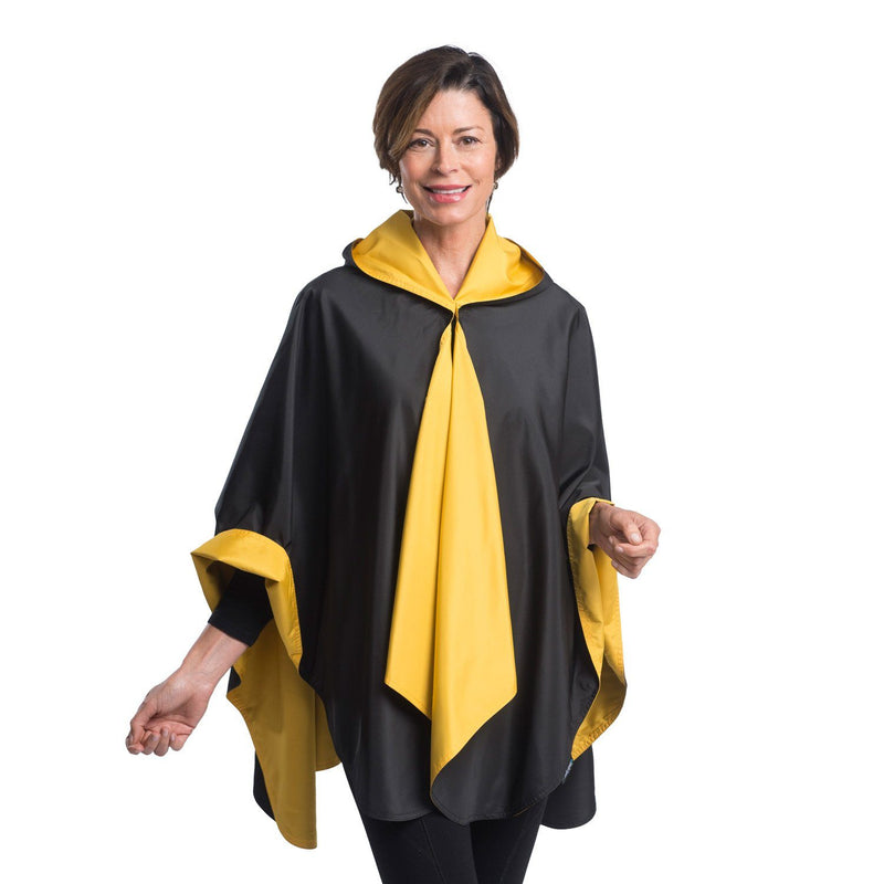 SpiritCaper Black & Gold Wind & Rainproof Cape