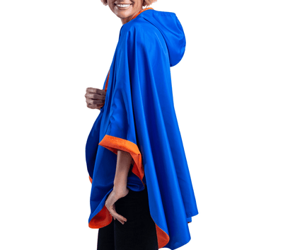 SpiritCaper Royal Blue & Orange Wind & Rainproof Cheer Cape