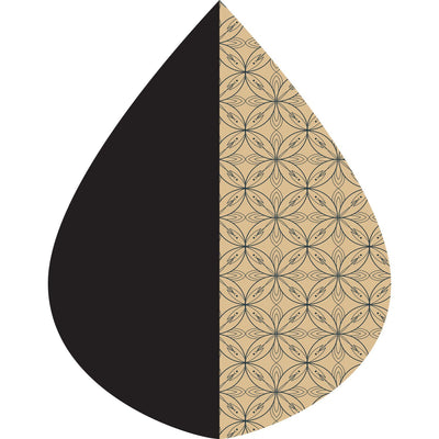 A raindrop shape depicting the Black/Camel Kelsey print as found on a BBlack/Camel Kelsey Print RainCaper