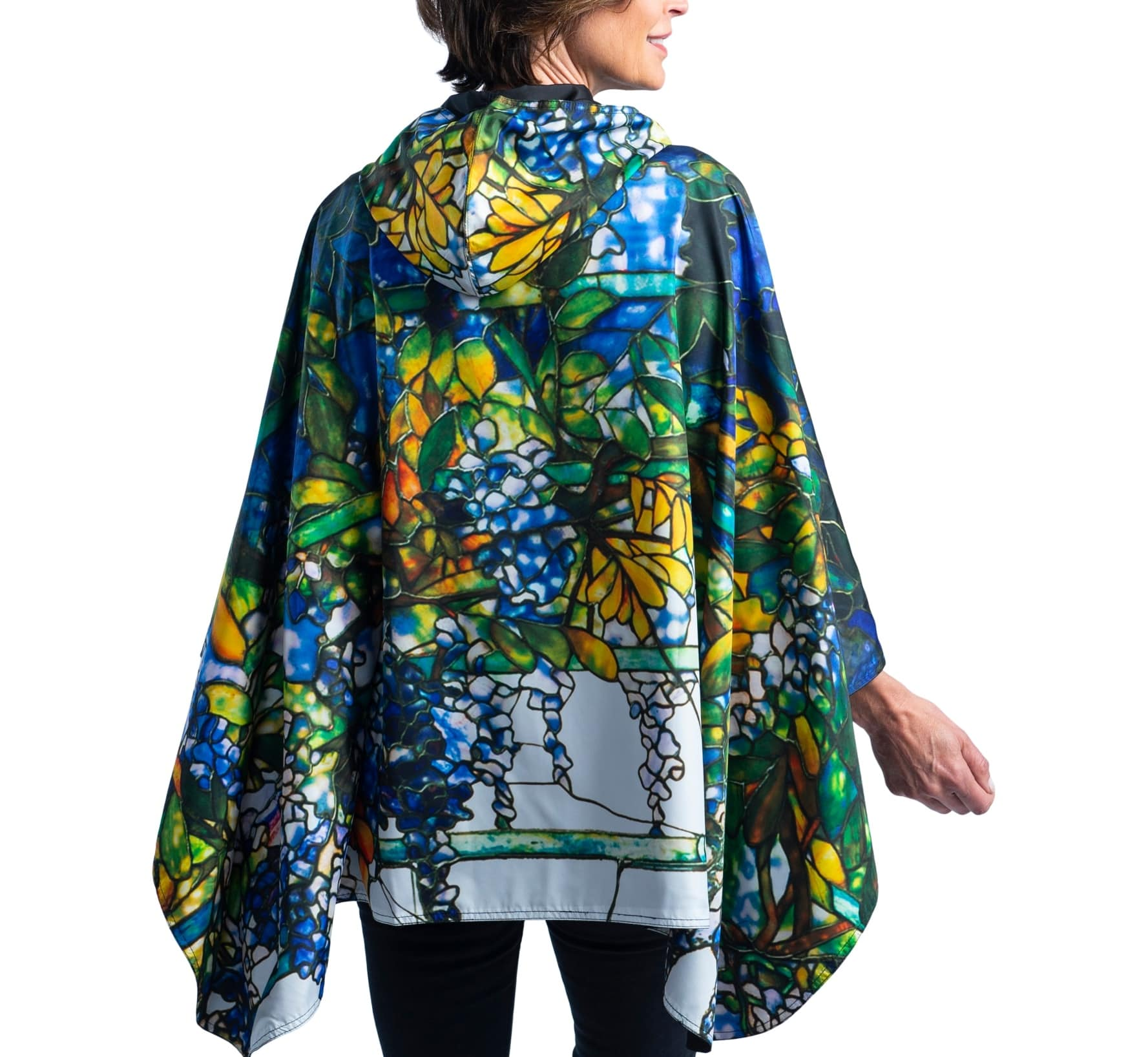 Fine Art RainCaper - Tiffany Wisteria Travel Cape & Womens Raincoat