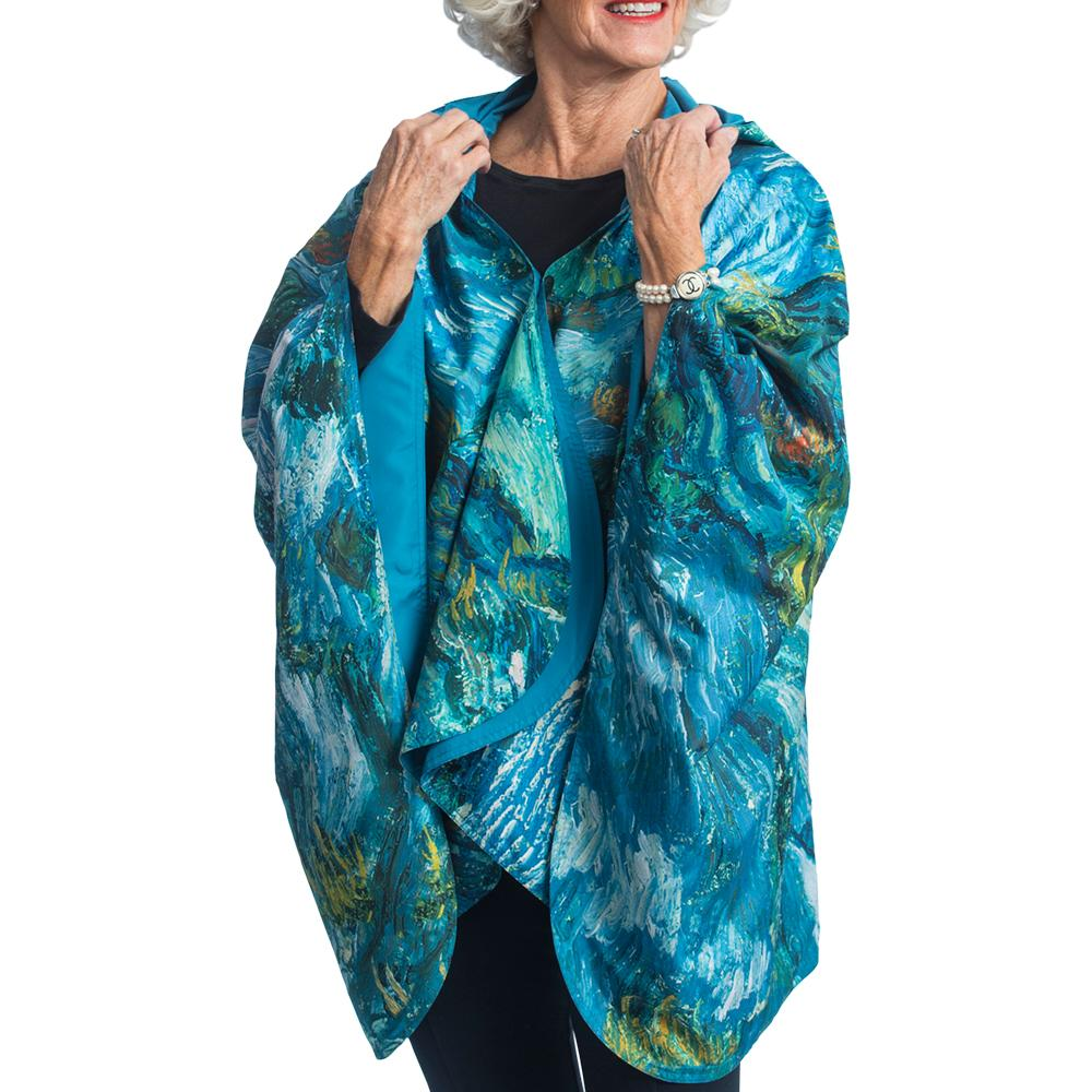 Fine Art RainCaper - van Gogh Ravine Travel Cape - Last Ones!