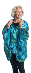 Fine Art RainCaper - van Gogh Ravine Travel Cape & Womens Raincoat