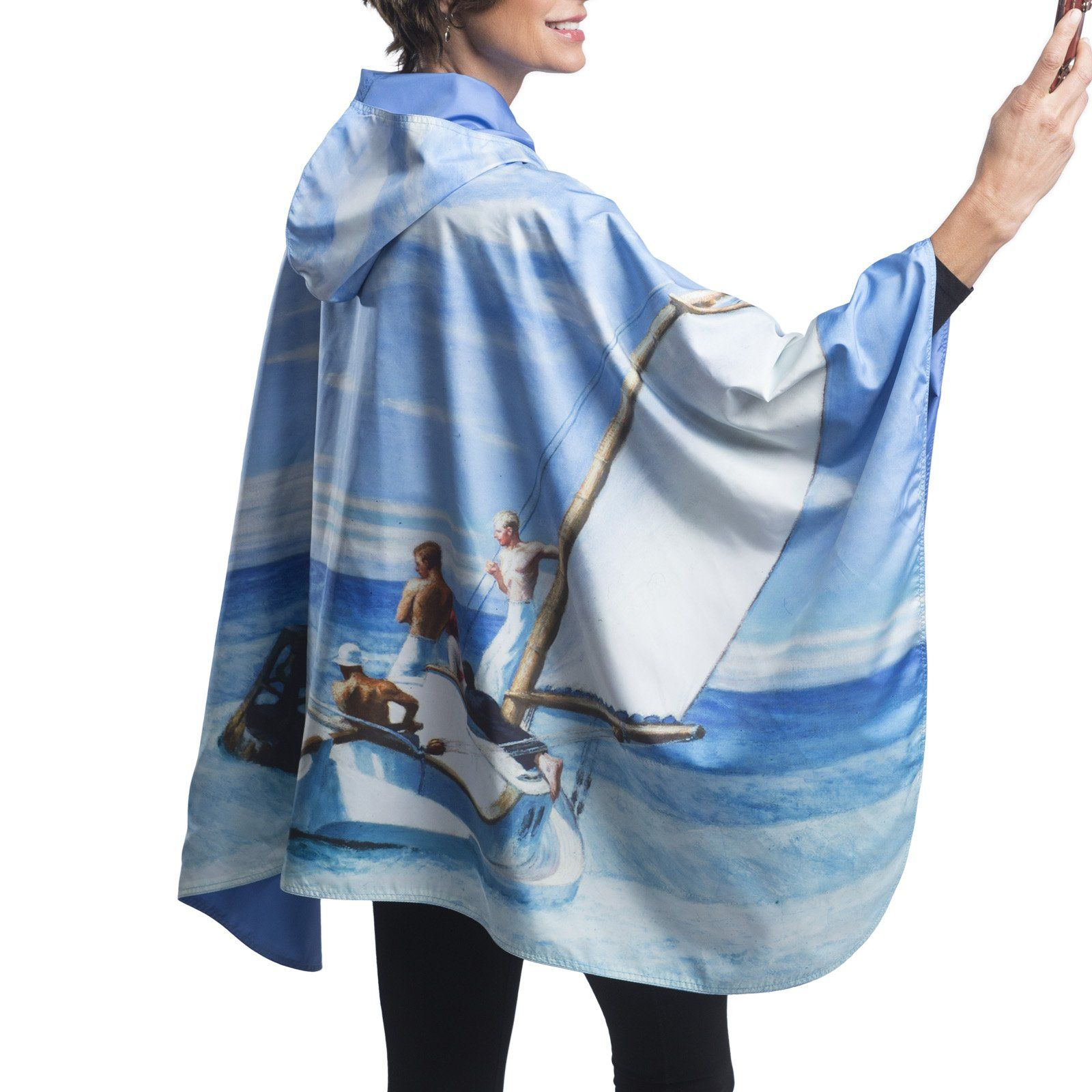 Fine Art RainCaper - Hopper Ground Swell Travel Cape & Windbreaker
