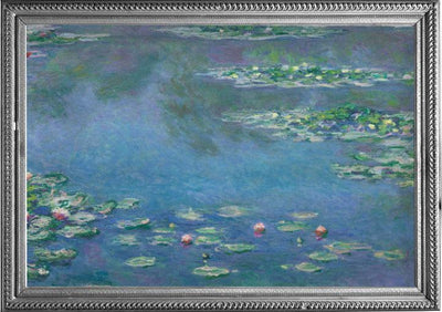 Framed image of Monet Water Lilies oil painting which inspired the Monet Water Lilies RainCaper.