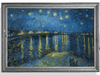 Framed Vincent van Gogh's original van Gogh Starry Night Over the Rhone oil painting.