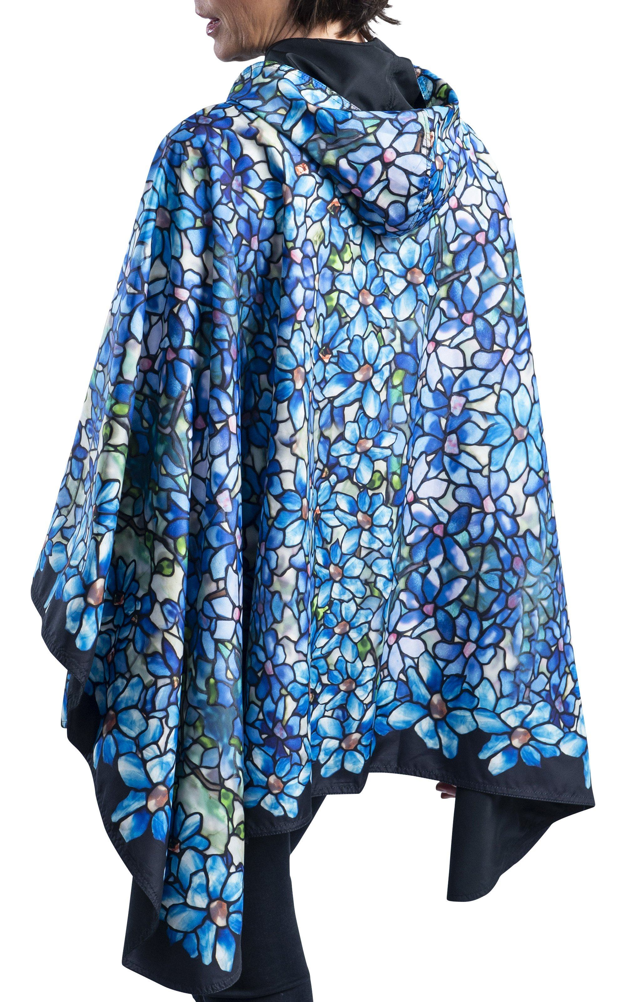 Fine Art RainCaper - Tiffany Clematis Travel Cape