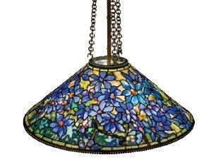 Image of Tiffany Clematis beautiful hanging chandelier which inspired the Tiffany Clematis RainCaper.
