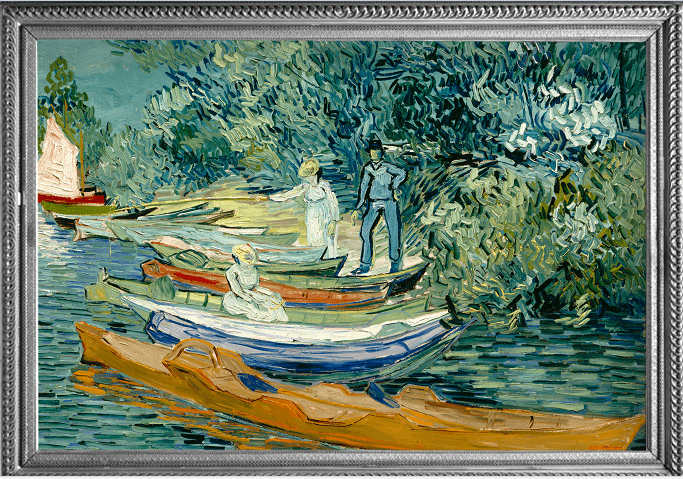 Fine Art RainCaper van Gogh Bank of the Oise at Auvers Travel Cape