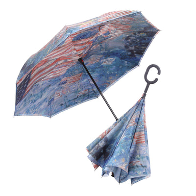 RainCaper Hassam Avenue in the Rain Reverse Umbrella