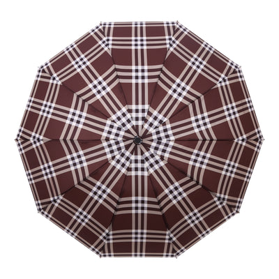 RainCaper Coco Plaid Folding Travel Umbrella