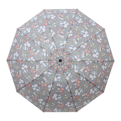 RainCaper William Morris Lily Folding Travel Umbrella