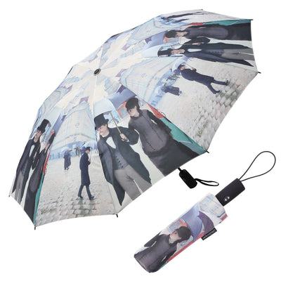 RainCaper Caillebotte Paris Street Folding Travel Umbrella