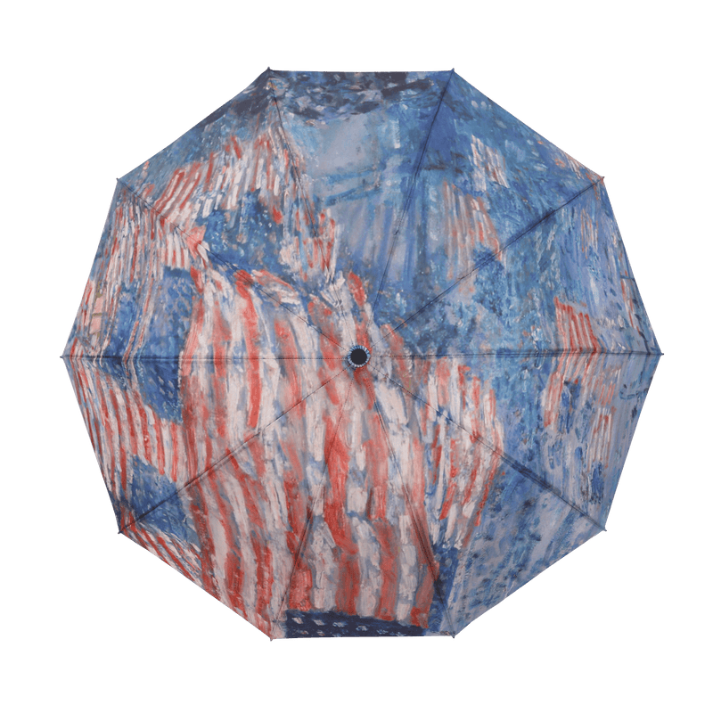RainCaper Hassam Avenue in the Rain Folding Travel Umbrella