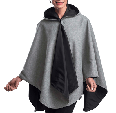 WarmCaper - Warm Pewter Grey/Black Rainproof