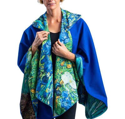 WarmCaper - Warm Royal/van Gogh Irises Rainproof - Last One!