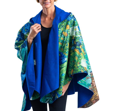 WarmCaper - Warm Royal/van Gogh Irises Rainproof