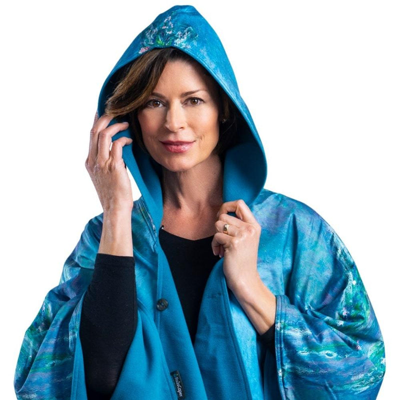 WarmCaper - Warm Teal/Monet Water Lilies Rainproof
