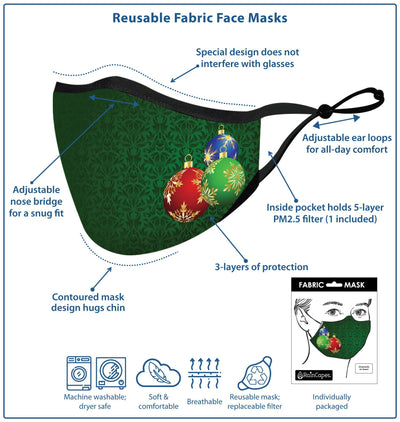 RainCaper Houndstooth Cats Reusable Fabric Face Mask