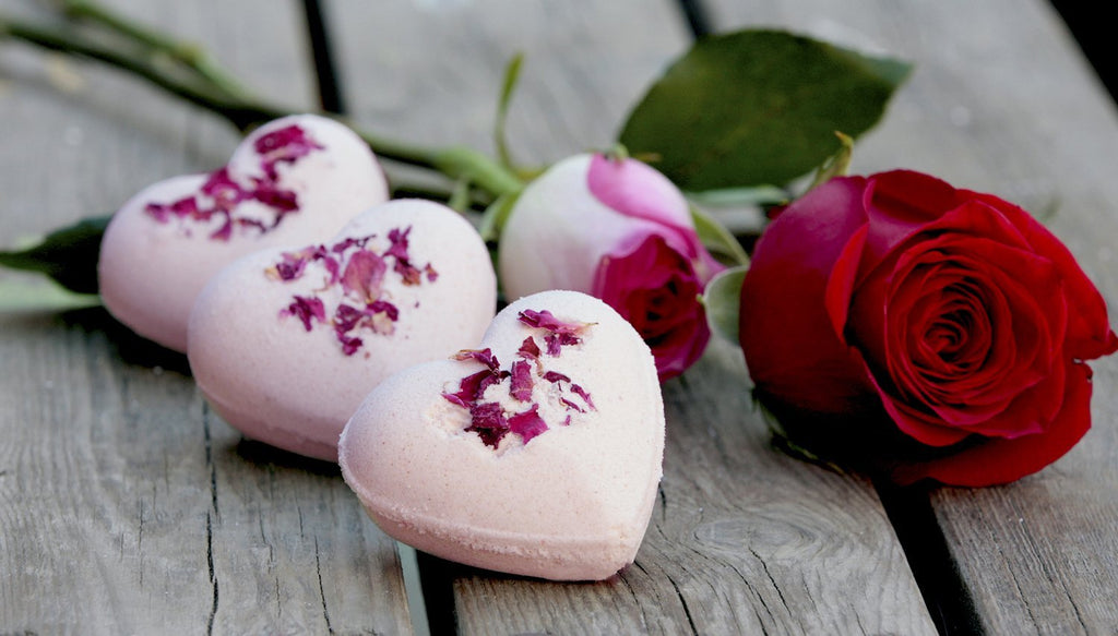 Valentines Day Heart Shaped Bath Bombs