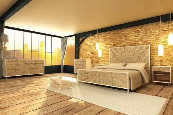 Reclaimed Solid wood bedroom