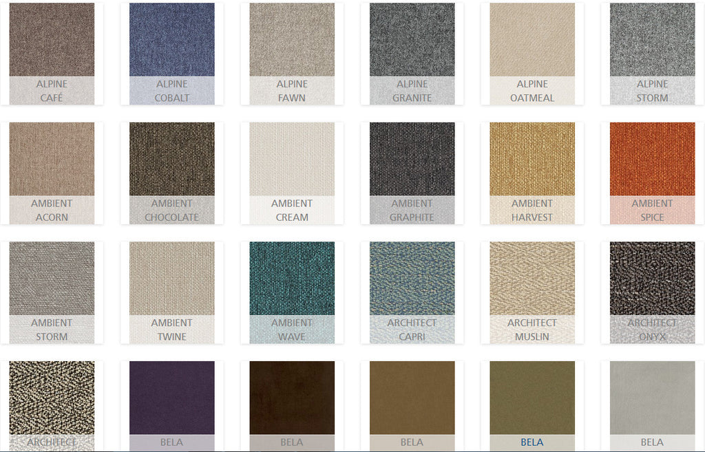 Palliser Fabric Options