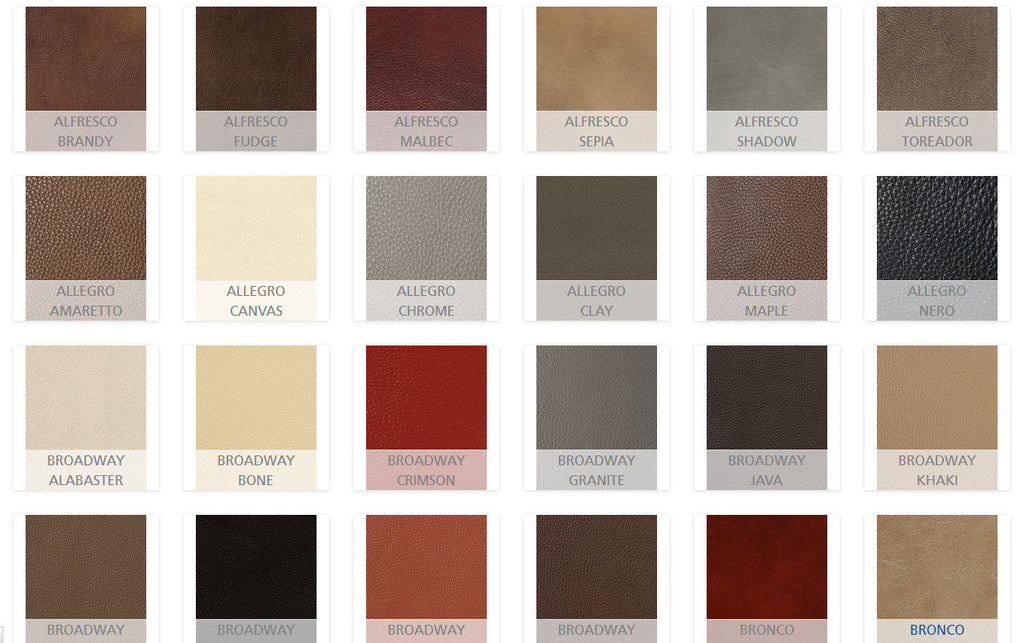 Palliser Leather options