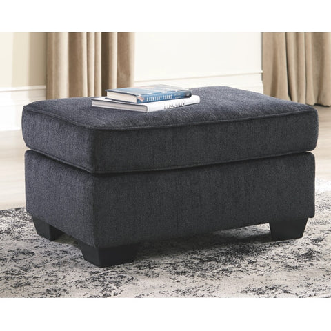 Edmonton Furniture Store | Slate Grey Fabric Oversize Ottoman - 872