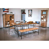 Solid Acacia Wood Dining Bench - Workshop
