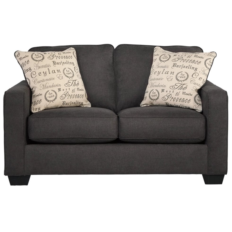 Edmonton Furniture Store | Slate Grey Fabric Loveseat - 166