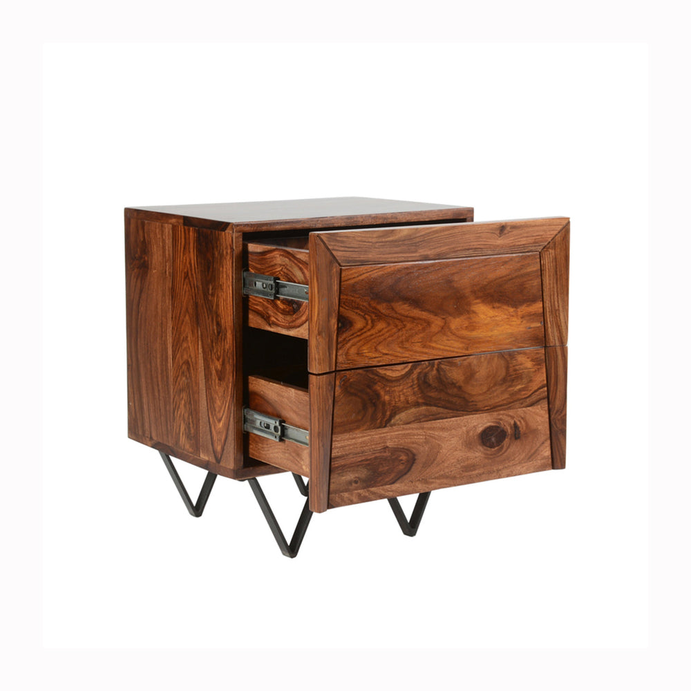 Matrix Night Stand - Sheesham Rosewood