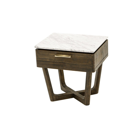 Marble Top 1Dr Nightstand -  Aura