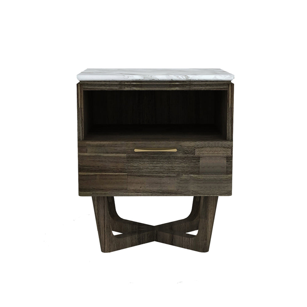 Marble Top 1Dr Nightstand w.Shelf-  Aura